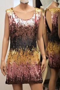 Korte jurk met pailletten