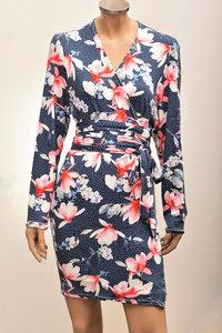 Kimono met bloemenprint en stippen